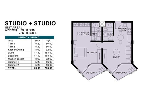 Condo floor plans for studio type joy studio design for Studio type condo design